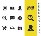 service icons set with help 24...