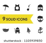 season icons set with...