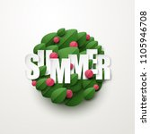 summer background with green... | Shutterstock .eps vector #1105946708