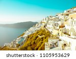 santorini   classically thera ... | Shutterstock . vector #1105953629