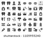 dentist and dental clinic... | Shutterstock .eps vector #1105955240