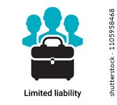 limited liability icon vector... | Shutterstock .eps vector #1105958468