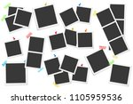 big set of square  photo frames ... | Shutterstock . vector #1105959536
