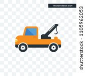 tow truck vector icon isolated... | Shutterstock .eps vector #1105962053