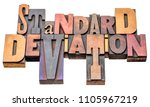 standard deviation    isolated... | Shutterstock . vector #1105967219