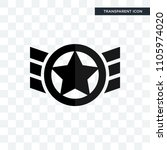 air force vector icon isolated... | Shutterstock .eps vector #1105974020