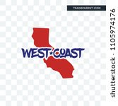 west coast vector icon isolated ...   Shutterstock .eps vector #1105974176