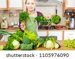 buying healthy dieting food...   Shutterstock . vector #1105976090