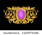 gold  baroque frame scroll with ...   Shutterstock .eps vector #1105976186