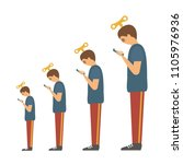 funny evolution vector... | Shutterstock .eps vector #1105976936