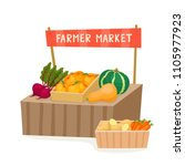 vegetable and fruit local... | Shutterstock .eps vector #1105977923