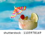 frozen margarita drinks with... | Shutterstock . vector #1105978169