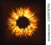 realistic fire flame. vector... | Shutterstock .eps vector #1105978703