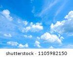 sky blue or azure sky and cloud ... | Shutterstock . vector #1105982150