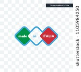 made in italia vector icon... | Shutterstock .eps vector #1105984250