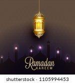 ramadan kareem islamic greeting ... | Shutterstock .eps vector #1105994453