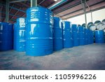 oil barrels blue  or chemical... | Shutterstock . vector #1105996226