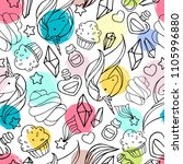seamless pattern with magic...   Shutterstock .eps vector #1105996880