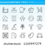 swimming pool thin line icons... | Shutterstock .eps vector #1105997279