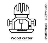 wood cutter icon vector... | Shutterstock .eps vector #1105998854
