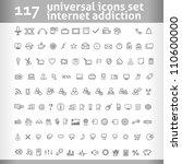 117 universal icons set. vector ...