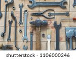 old used building and treatment ... | Shutterstock . vector #1106000246