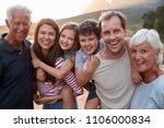 portrait of multi generation... | Shutterstock . vector #1106000834
