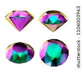 3d render  multicolor precious...   Shutterstock . vector #1106003963