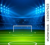 soccer stadium. football arena... | Shutterstock .eps vector #1106007623