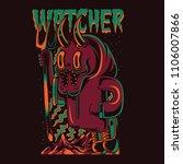 the watcher illustration | Shutterstock .eps vector #1106007866