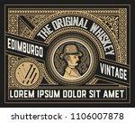 vintage label for packing... | Shutterstock .eps vector #1106007878