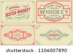 4 old labels for packing | Shutterstock .eps vector #1106007890