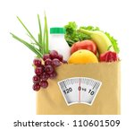 healthy diet. fresh food in a... | Shutterstock . vector #110601509