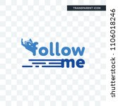 follow me vector icon isolated... | Shutterstock .eps vector #1106018246