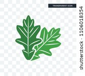oak leaf vector icon isolated... | Shutterstock .eps vector #1106018354