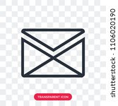 letter vector icon isolated on... | Shutterstock .eps vector #1106020190