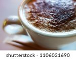 cup of morning coffee with... | Shutterstock . vector #1106021690