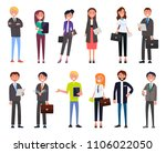 set business people cartoon... | Shutterstock .eps vector #1106022050