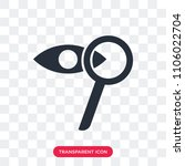 zoom vector icon isolated on... | Shutterstock .eps vector #1106022704