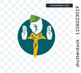 boy scout vector icon isolated... | Shutterstock .eps vector #1106023019
