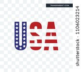 american flag vector icon... | Shutterstock .eps vector #1106023214