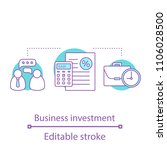 business investment concept... | Shutterstock .eps vector #1106028500