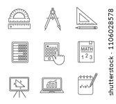 mathematics linear icons set....   Shutterstock .eps vector #1106028578