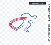 track and field vector icon... | Shutterstock .eps vector #1106028629