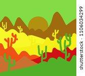 of sweets on beige  black ... | Shutterstock .eps vector #1106034299