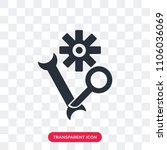 settings vector icon isolated... | Shutterstock .eps vector #1106036069