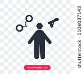 policeman vector icon isolated... | Shutterstock .eps vector #1106037143