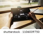 seo. search engine optimization.... | Shutterstock . vector #1106039750