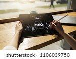 seo. search engine optimization.... | Shutterstock . vector #1106039750