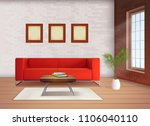 contemporary home interior... | Shutterstock .eps vector #1106040110